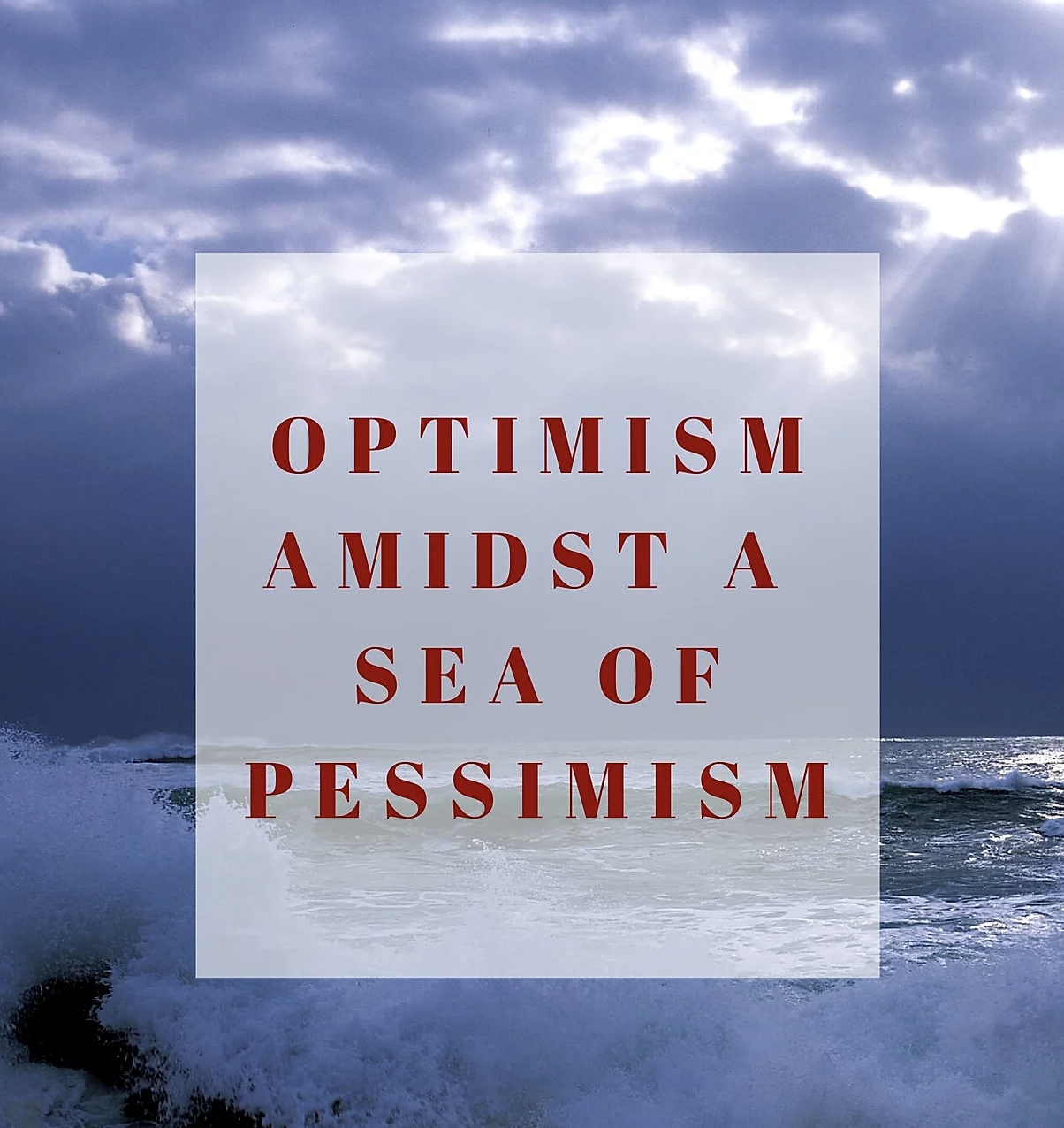 Optimism amidst a sea of pessimism